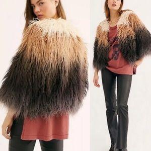 Free People Terra Amber Faux Fur Coat